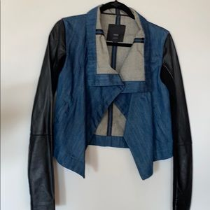 Veda Jean Leather Jacket Small